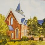 Church of the Good Shepherd by: Colette Hughes, Watercolor, 12