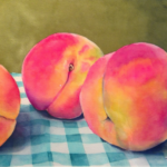 Peaches by: Ronda Bryce,Watercolor, 8