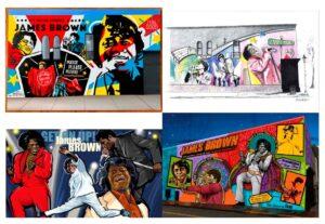 James Brown Mural finalists composite image